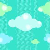 Fond vert de modèle de nuages Image libre de droits