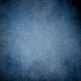 Fondo blu con progettazione d'annata del confine di struttura di lerciume ed il centro blu-chiaro Fotografia Stock Libera da Diritti