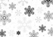 Fondo de los copos de nieve de la Navidad Fotos de archivo