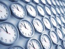 Fondo degli orologi di parete Immagini Stock Libere da Diritti