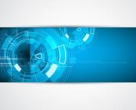 Fondo di affari di concetto di nuova tecnologia del computer di infinito Fotografia Stock