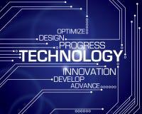 Fondo di parola di tecnologia Immagini Stock Libere da Diritti