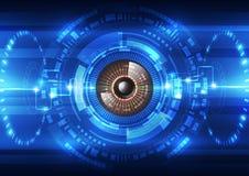 Fondo futuro astratto del sistema di sicurezza di tecnologia, illustrazione di vettore Fotografia Stock