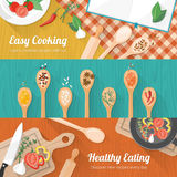 Food and cooking banner Royalty Free Stock Images
