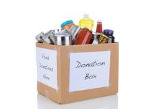 Food Donation Box Royalty Free Stock Photo