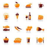 Food and drink icons Stock Images