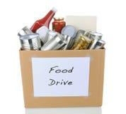 Food Drive Box Royalty Free Stock Photography