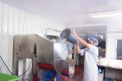 Food production plant worker Royalty Free Stock Image