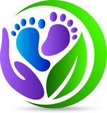 Foot print care Royalty Free Stock Photography