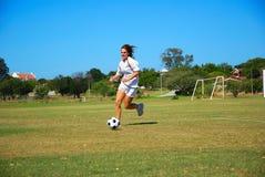 Football girl Royalty Free Stock Photography