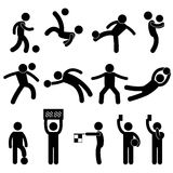 Football Soccer Goalkeeper Referee Pictogram Icon Stock Photo