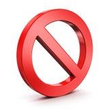 Forbidden sign Royalty Free Stock Photos
