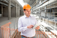 A foreman at the construction Stock Photo