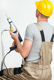 Foreman with drill Stock Photo