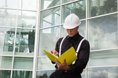 Foreman With File Stock Photography