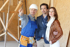 Foreman shows new house Stock Images