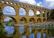 forntida akvedukt france provence Royaltyfri Bild