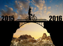 Forward to the New Year 2016 Stock Image