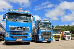 Four Trucks on a Yard Stock Photos