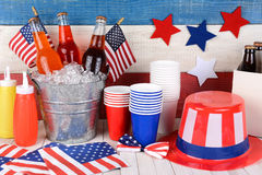 Fourth of July Still Life Stock Photography
