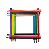 Frame of colored pencils Stock Images