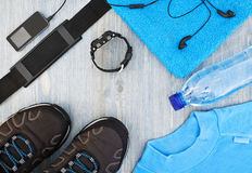 Frame with sports accessories Stock Photo
