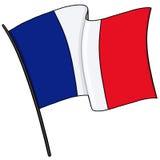 Frankreich-Flaggenillustration Stockfotos