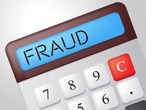 Fraud Calculator Indicates Rip Off And Calculate Royalty Free Stock Images