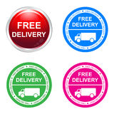 Free delivery sticker Stock Photography