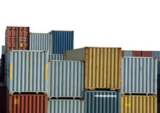 Freight containers on harbor Stock Image