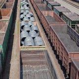 Freight trains Stock Photo