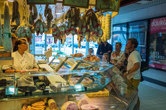French meat market Royalty Free Stock Photography
