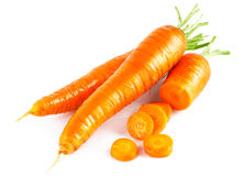Fresh carrot in section Royalty Free Stock Images