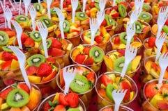 Fresh fruit salad cups Stock Image