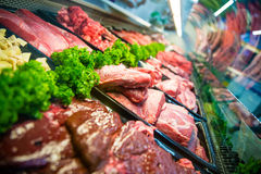 Fresh meat at the butcher Royalty Free Stock Photography