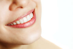 Fresh smile of woman with healthy teeth Royalty Free Stock Images