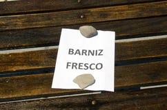 Fresh varnish on wood Stock Image
