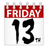 Friday 13th Calendar Icon Royalty Free Stock Photo