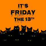 Friday 13 with black cats Royalty Free Stock Photo