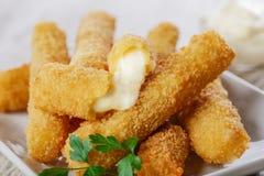 Fried mozzarella cheese sticks Royalty Free Stock Image
