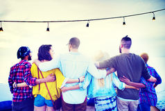 Friends Friendship Group Hug Relationship Concept Royalty Free Stock Image