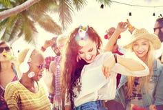 Friendship Dancing Bonding Beach Happiness Joyful Concept Royalty Free Stock Photo