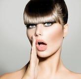 Fringe. Fashion Model Girl Royalty Free Stock Image
