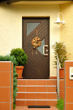 Front door of the house Royalty Free Stock Photos