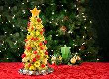 Fruit Christmas tree Royalty Free Stock Photography