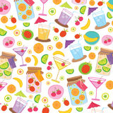 Fruit Juice Drink Cute cartoon Gift Wrapping Design Vector Royalty Free Stock Photography