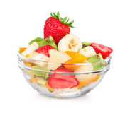 Fruit salad in take away cup Royalty Free Stock Image