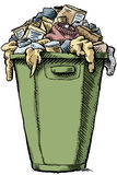 Full Garbage Stock Photography