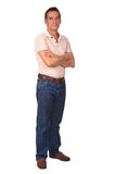 Full Length Portrait of Man with Arms Folded Stock Photography
