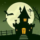 Full Moon Haunted House Royalty Free Stock Photography